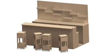Modelaje Solid Works, proyecto muebles de hostelería_2