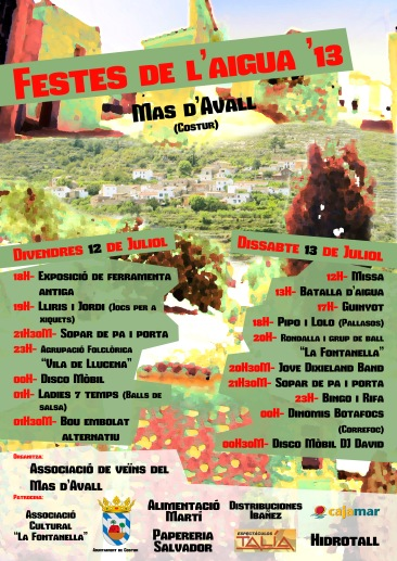 Cartel Mas d'avall 2013_1